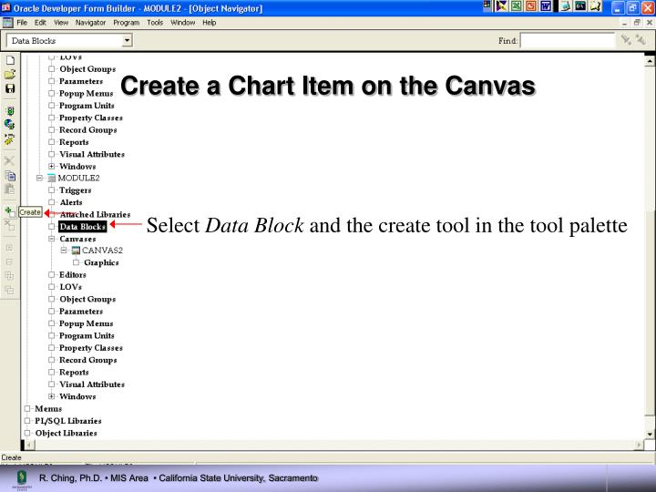 Create a Chart Item on the Canvas