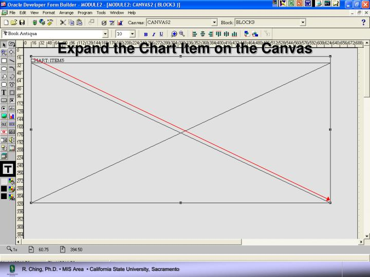 Expand the Chart Item on the Canvas