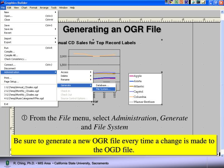 Generating an OGR File