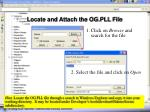 locate and attach the og pll file