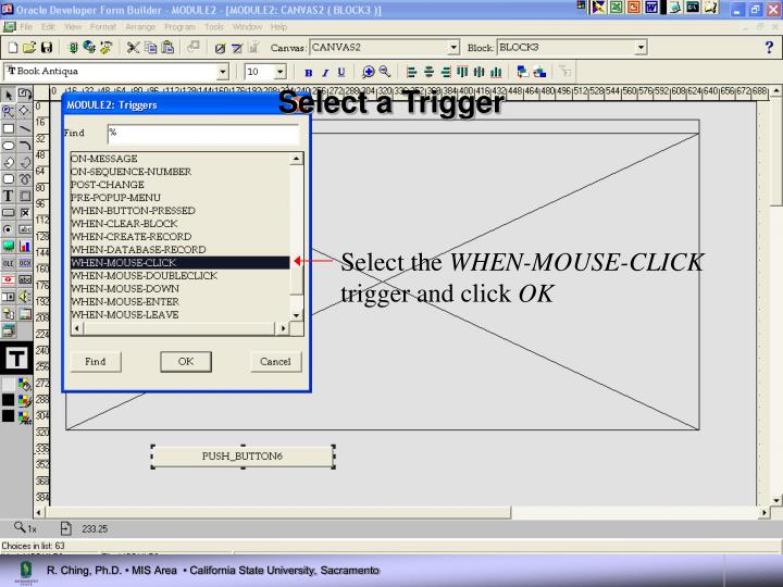 Select a Trigger