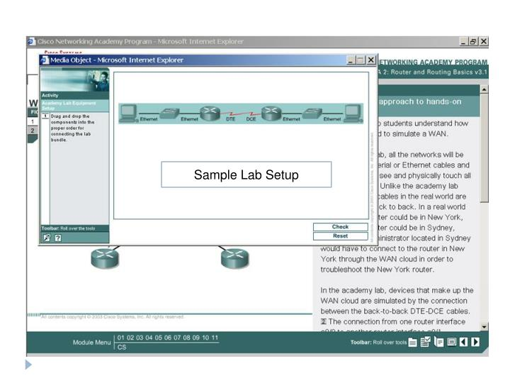 Sample Lab Setup