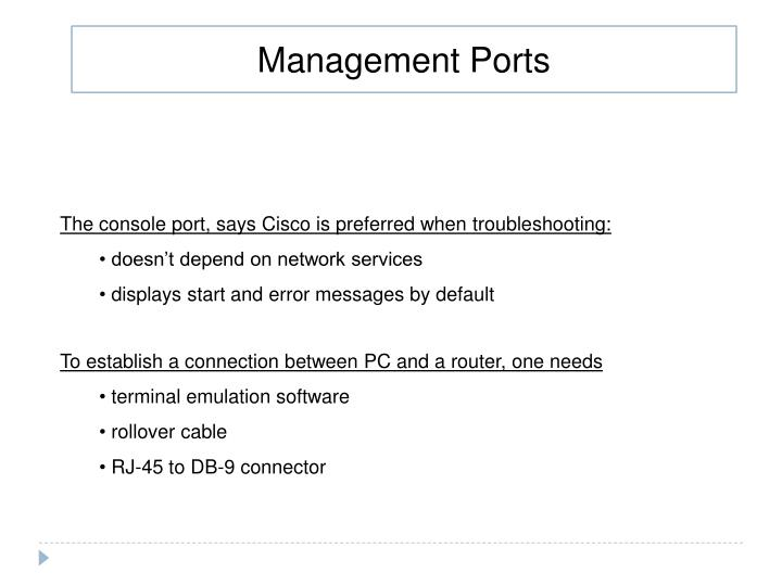 Management Ports
