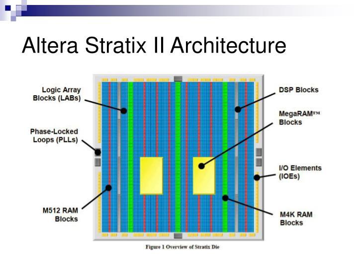 Altera Stratix II Architecture