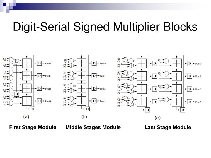 Digit-Serial Signed Multiplier Blocks