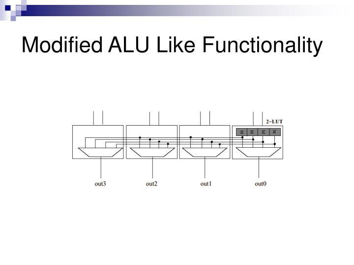 Modified ALU Like Functionality