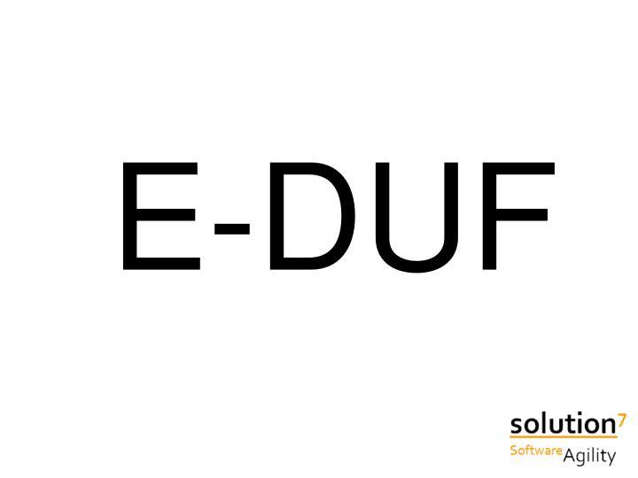 E-DUF