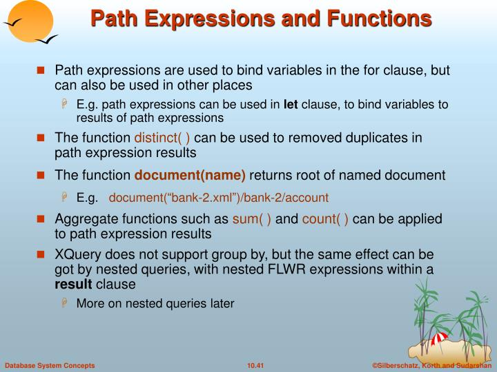 Path Expressions and Functions