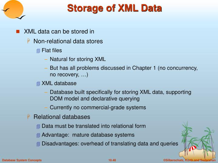 Storage of XML Data