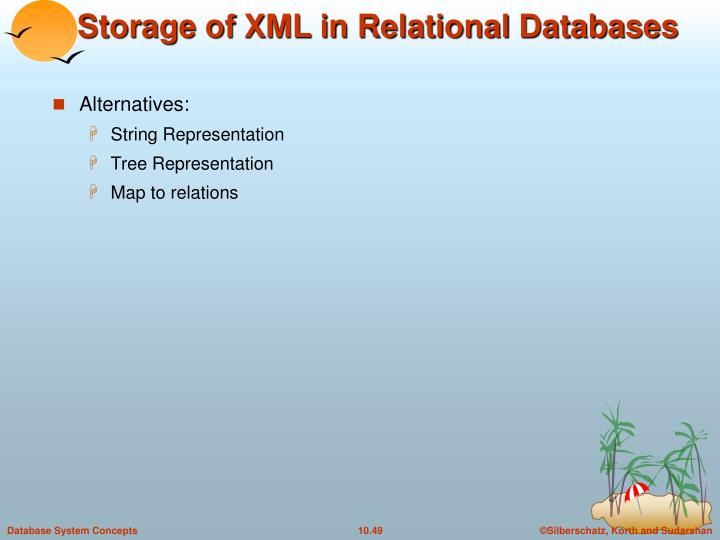 Storage of XML in Relational Databases