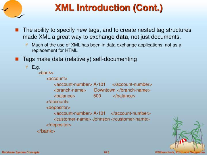 Xml introduction cont