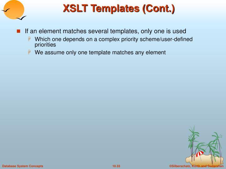 XSLT Templates (Cont.)