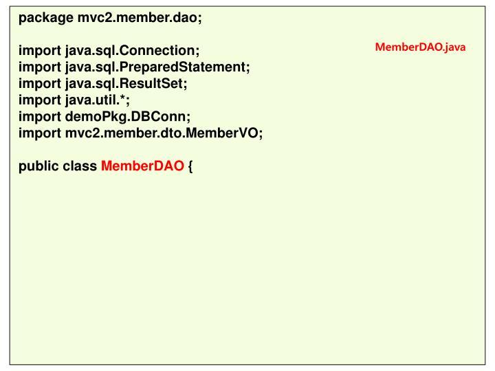 package mvc2.member.dao;