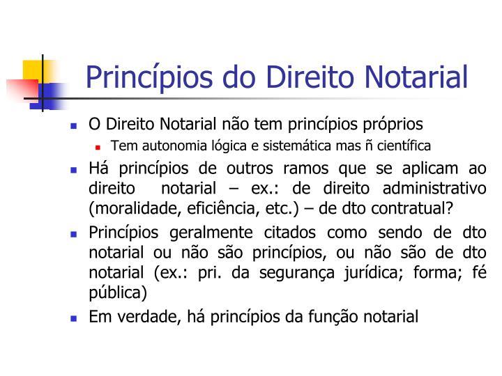 Princípios do Direito Notarial