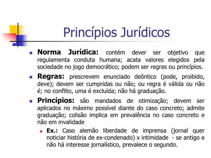 Princípios Jurídicos