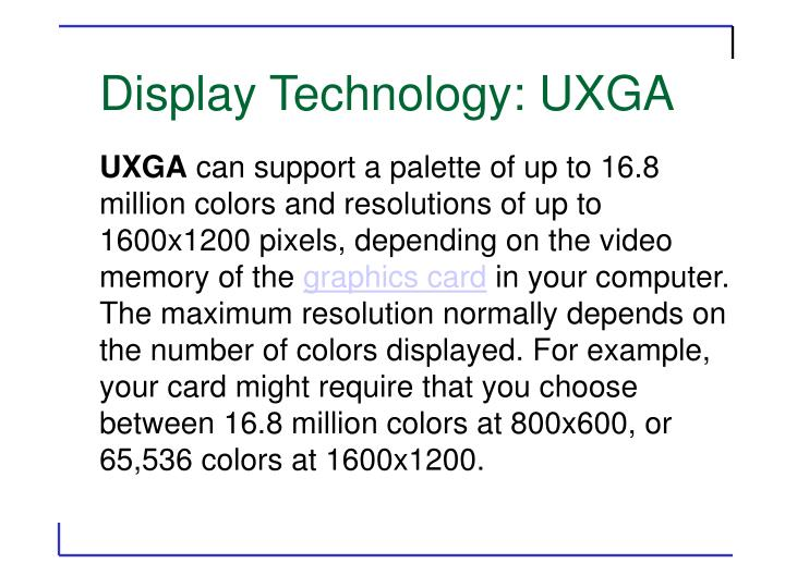 Display Technology: UXGA