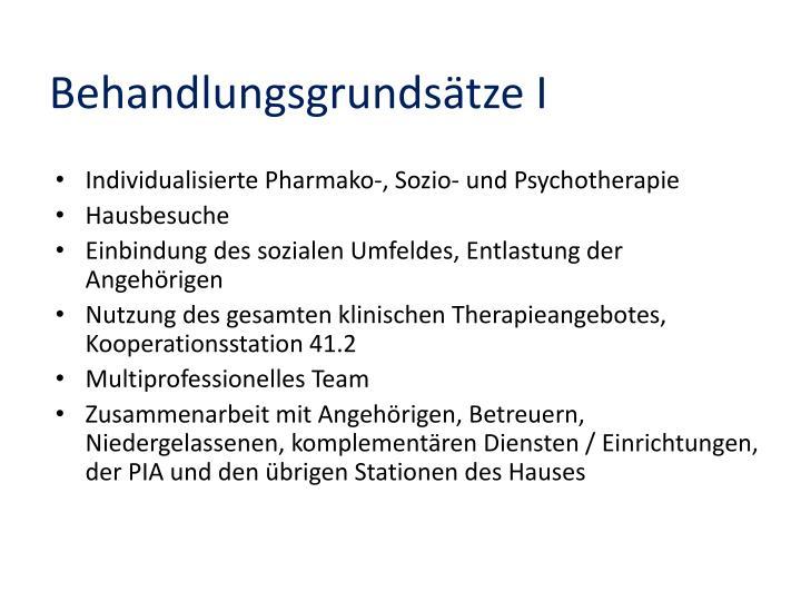 Behandlungsgrundsätze I