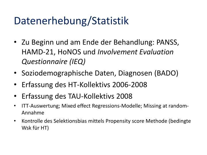 Datenerhebung/Statistik
