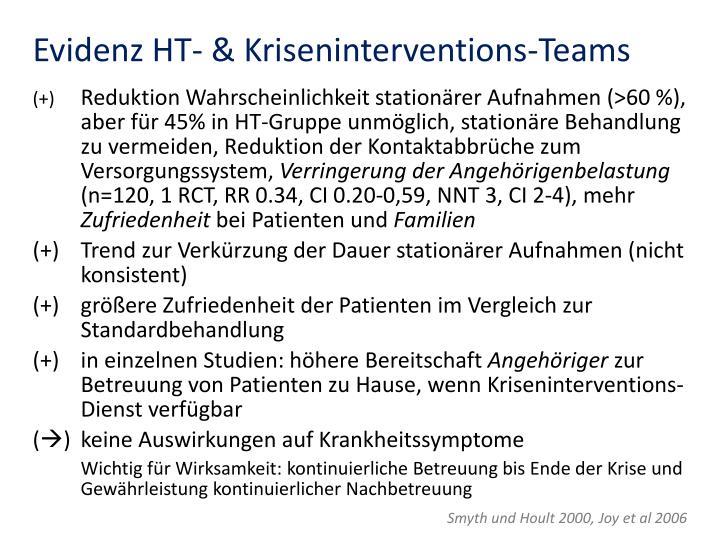 Evidenz HT- & Kriseninterventions-Teams