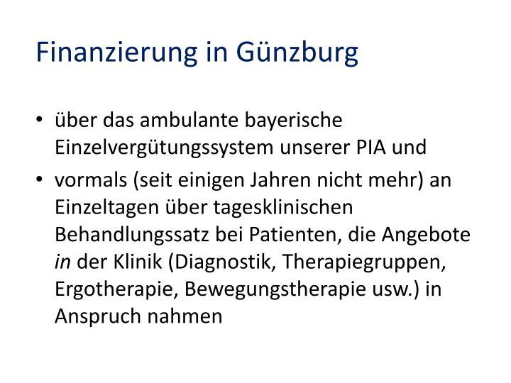Finanzierung in Günzburg