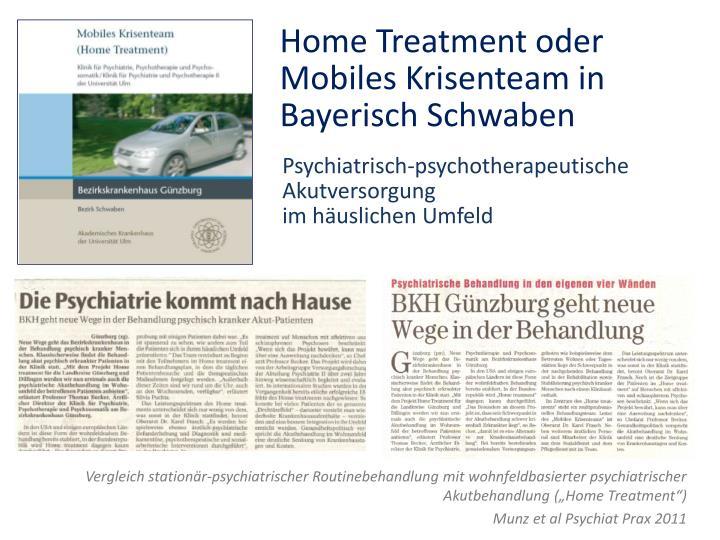 Psychiatrisch-psychotherapeutische Akutversorgung