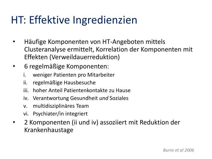 HT: Effektive Ingredienzien