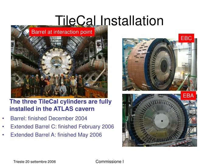 Tilecal installation