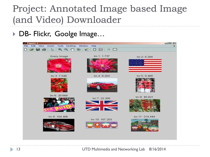 Project: Annotated Image based Image (and Video) Downloader