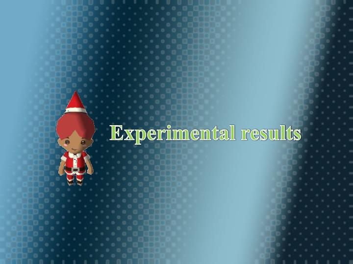 (#) Experimental results