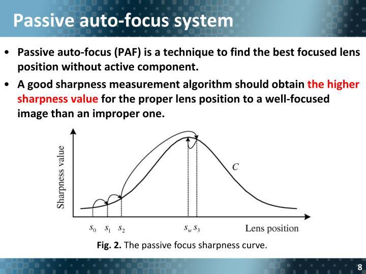 Passive auto-focus system