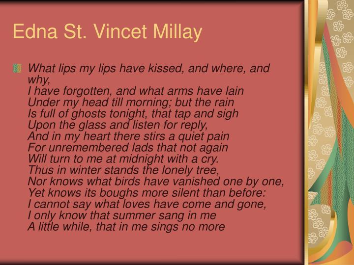 Edna St. Vincet Millay