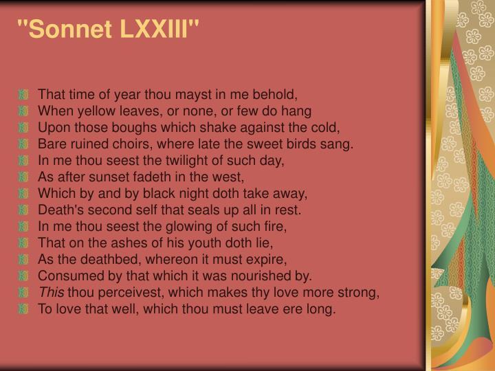 """""""Sonnet LXXIII"""""""