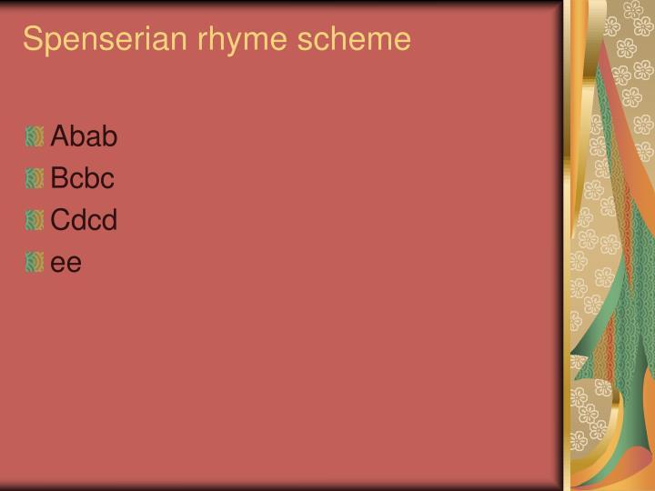 Spenserian rhyme scheme