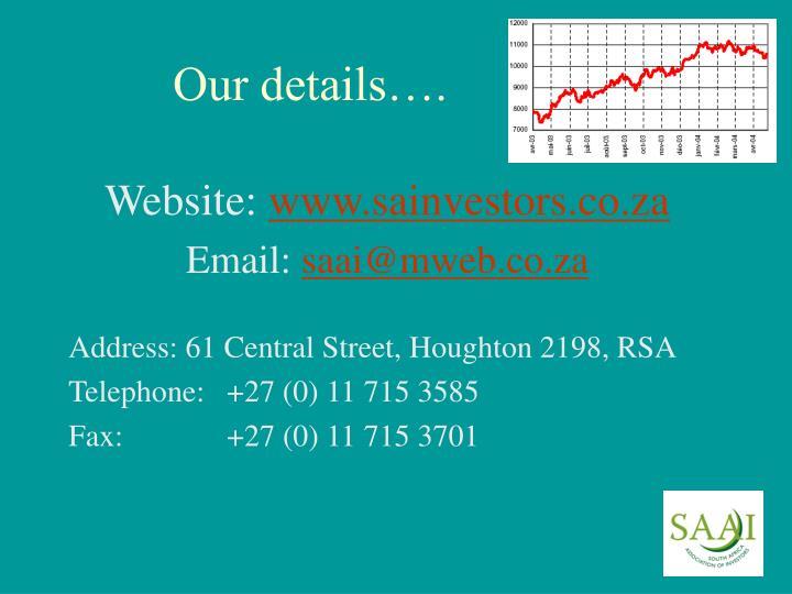Our details….