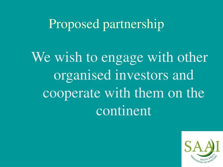 Proposed partnership