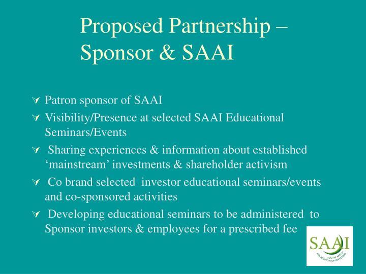 Proposed Partnership –