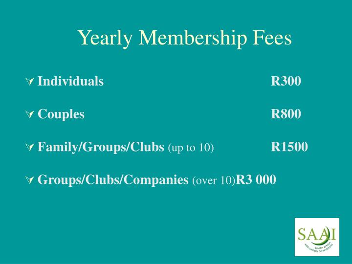 Yearly Membership Fees