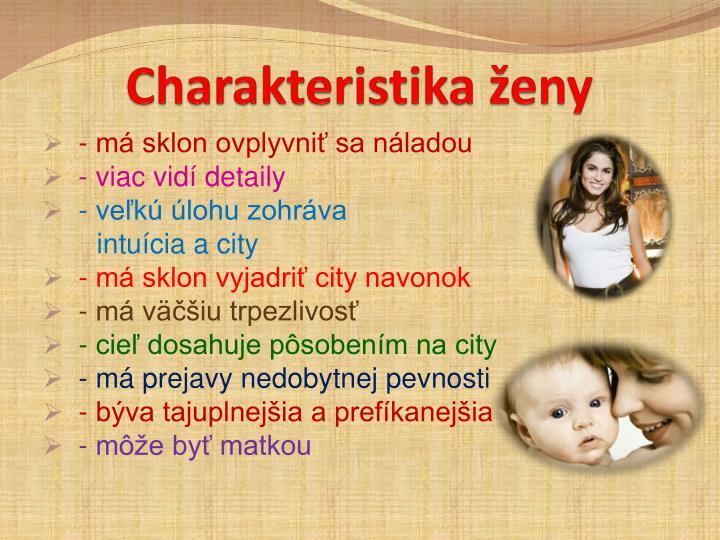 Charakteristika ženy