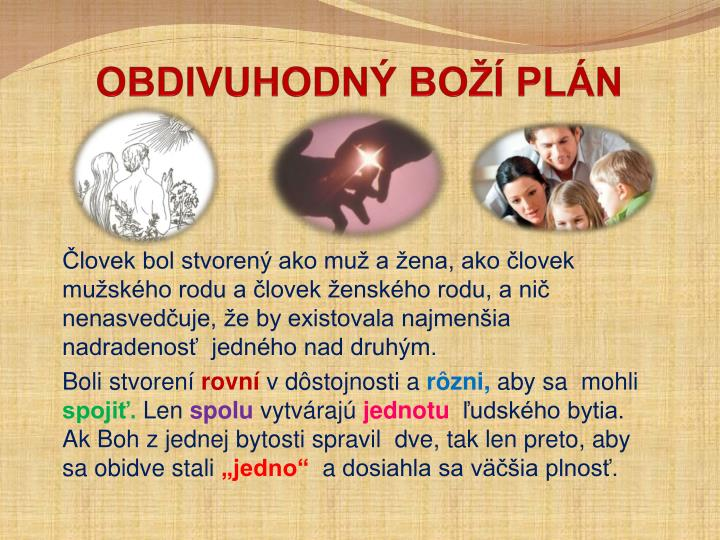 OBDIVUHODNÝ BOŽÍ