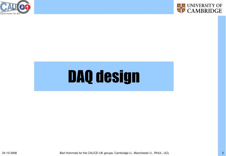DAQ design