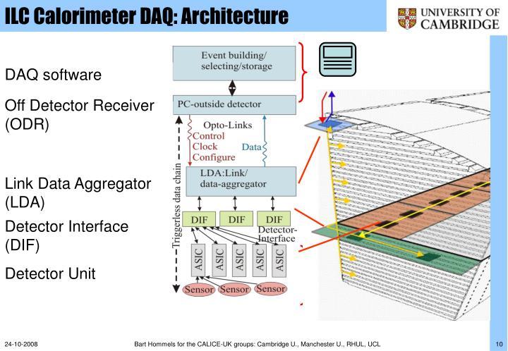 ILC Calorimeter DAQ: Architecture