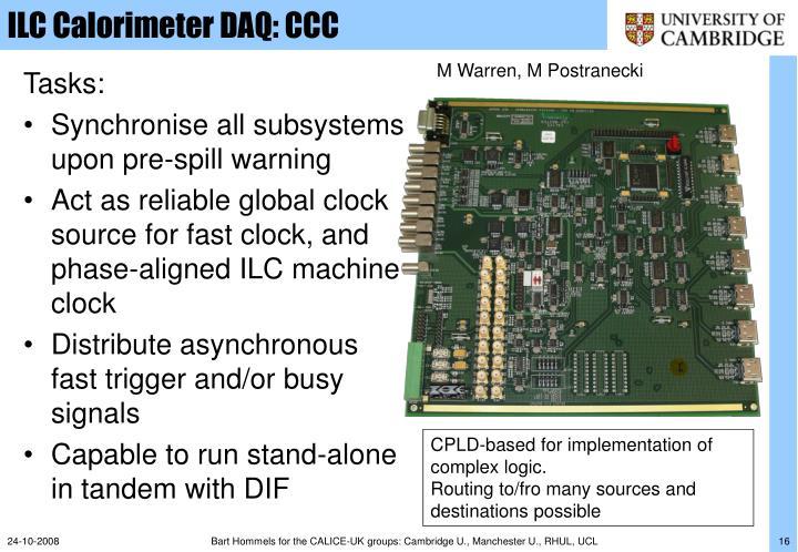 ILC Calorimeter DAQ: CCC