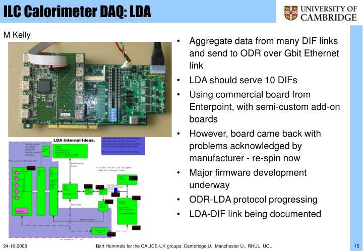 ILC Calorimeter DAQ: LDA