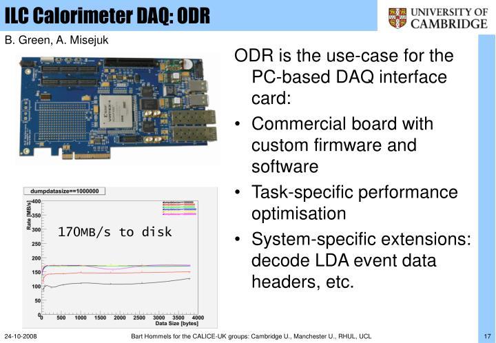 ILC Calorimeter DAQ: ODR