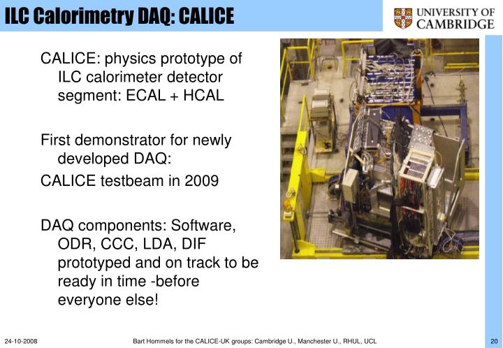 ILC Calorimetry DAQ: CALICE