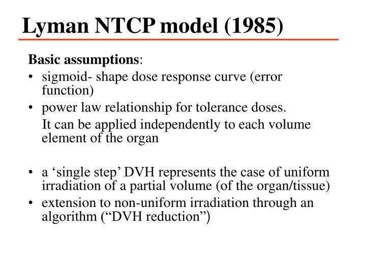 Lyman NTCP model (1985)