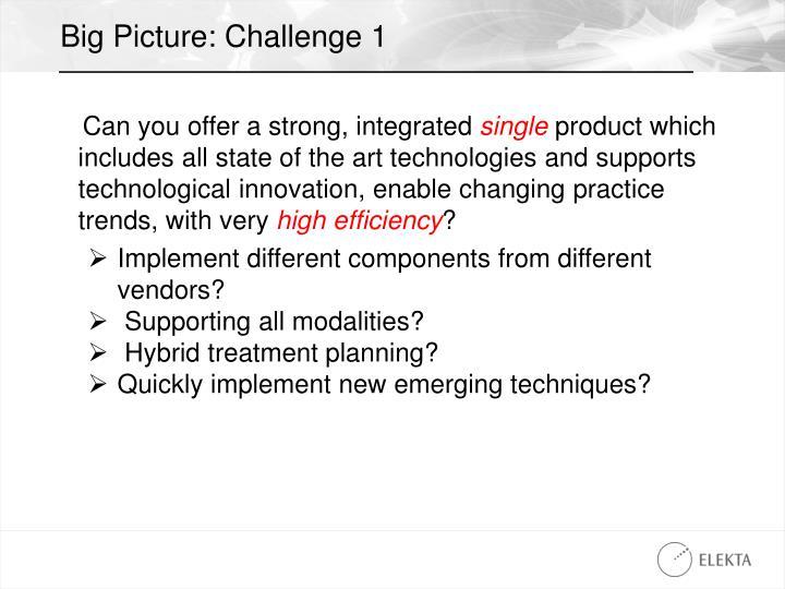 Big Picture: Challenge 1