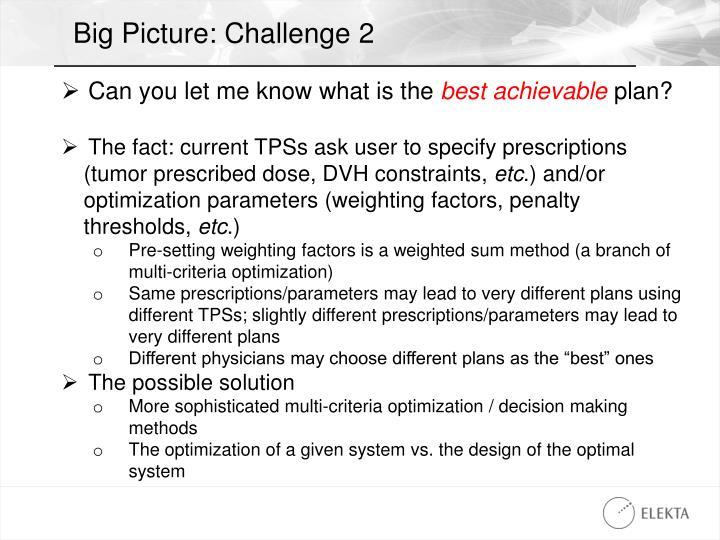 Big Picture: Challenge 2