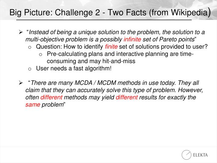 Big Picture: Challenge 2 - Two Facts (from Wikipedia