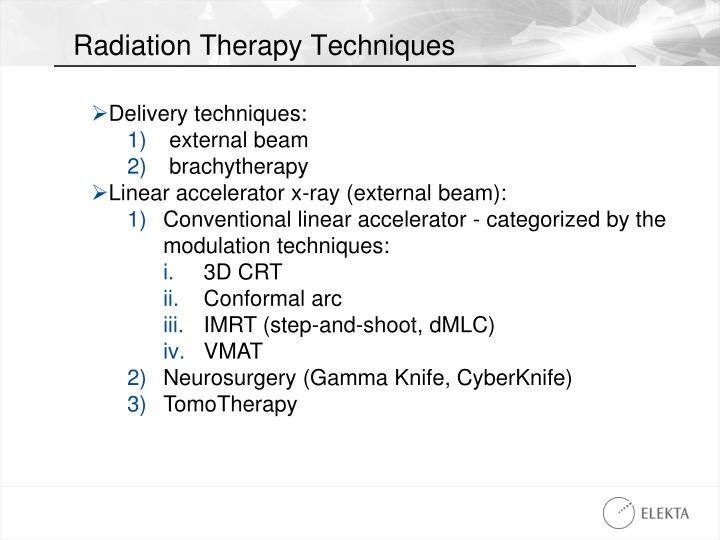 Radiation Therapy Techniques